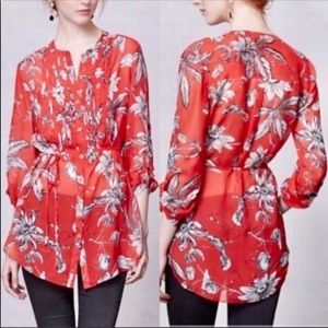 Leifsdottir Anthropologie Silk Tunic Blouse